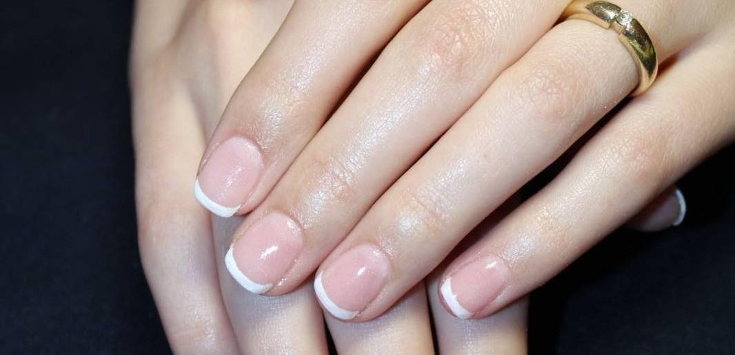 фото френч на круглые ногти