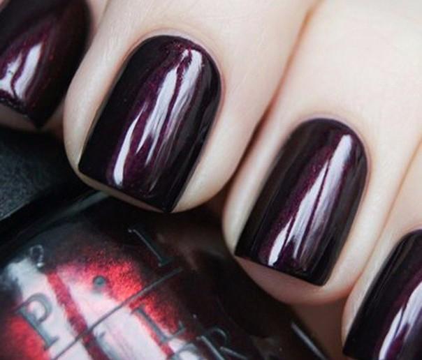 Темные тона лака для ногтей