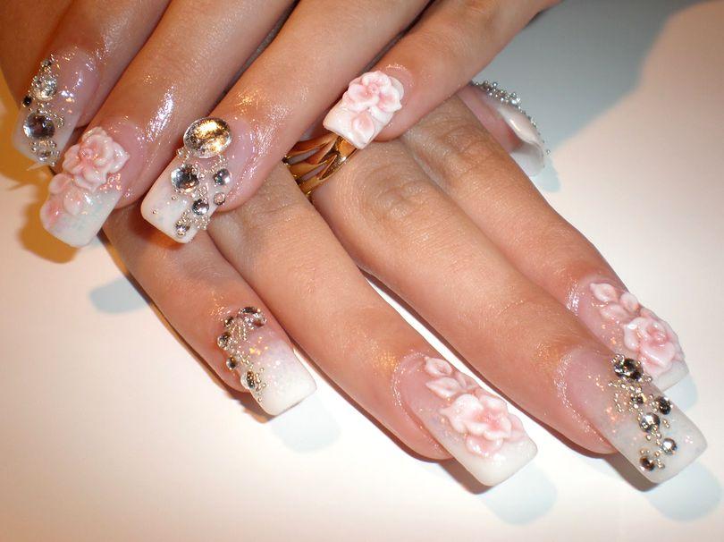 Красивые рисунки на ногтях свадебные