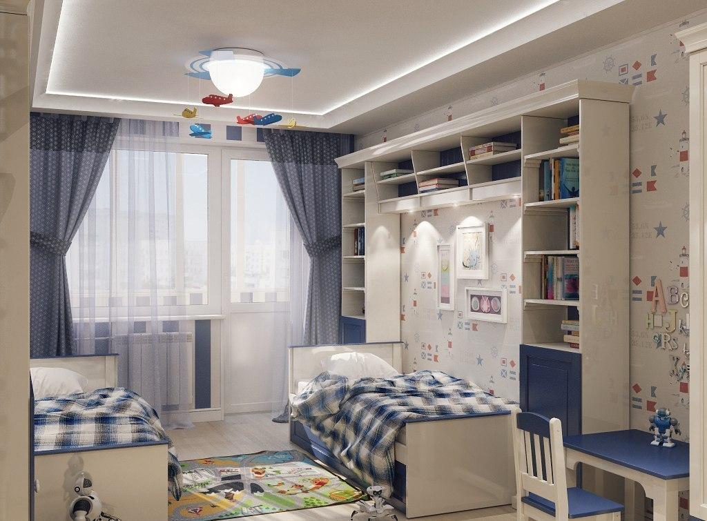 Современный дизайн детской комнаты для девочек и мальчиков. .
