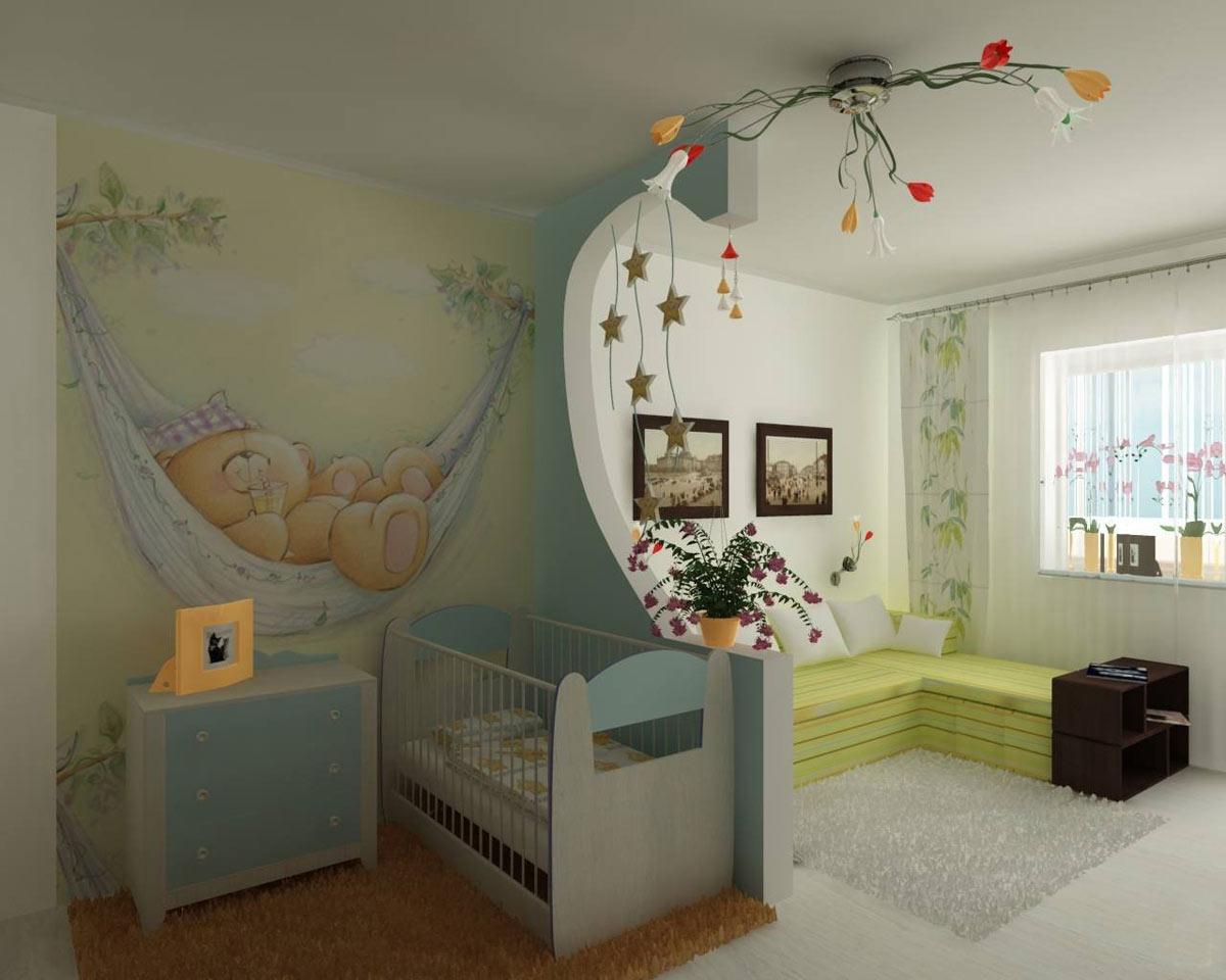 Как в однокомнатной квартире сделать детскую картинки