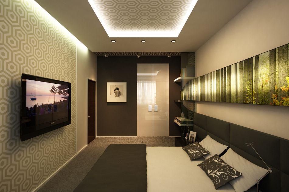 Дизайн узкой комнаты фото