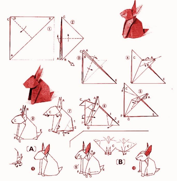 Как сделать кролика схема