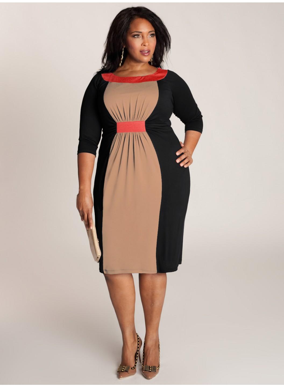 Образец платья для полных