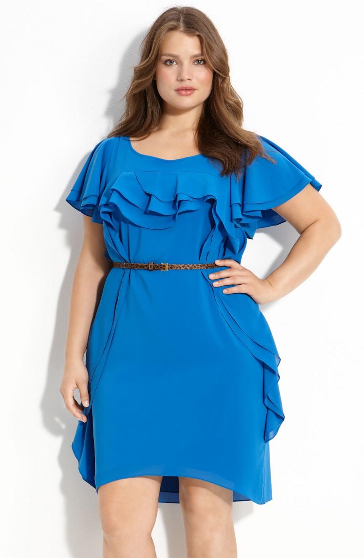 Модели платьев для полных девушек фото