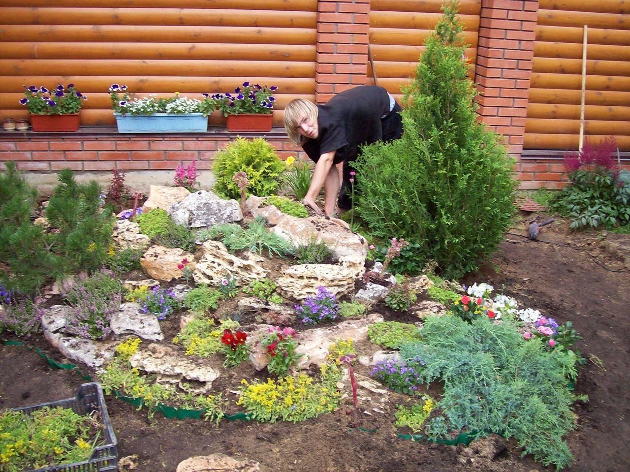 Использование древесной коры в дизайне сада
