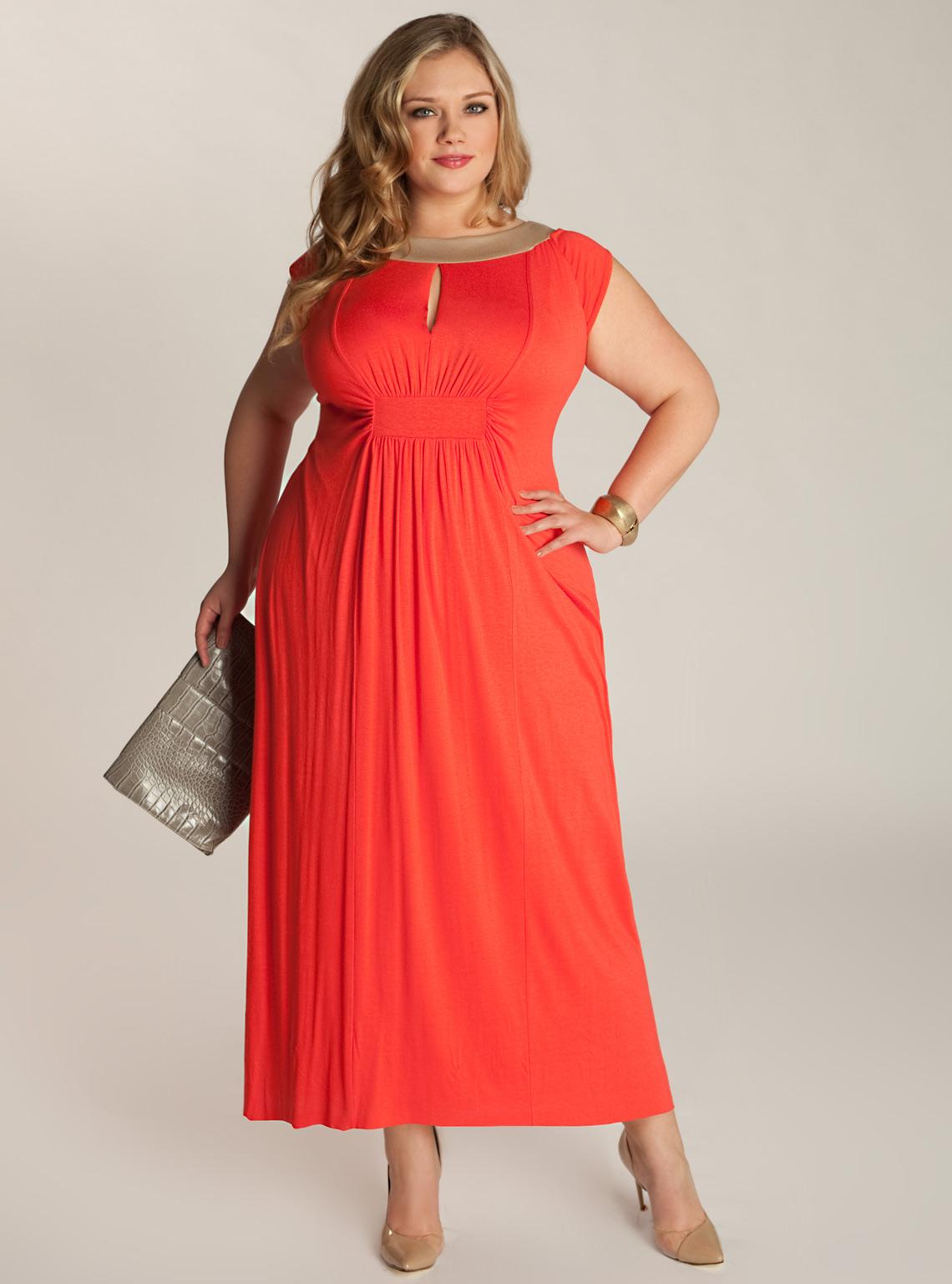Нарядное платье для полной девушки
