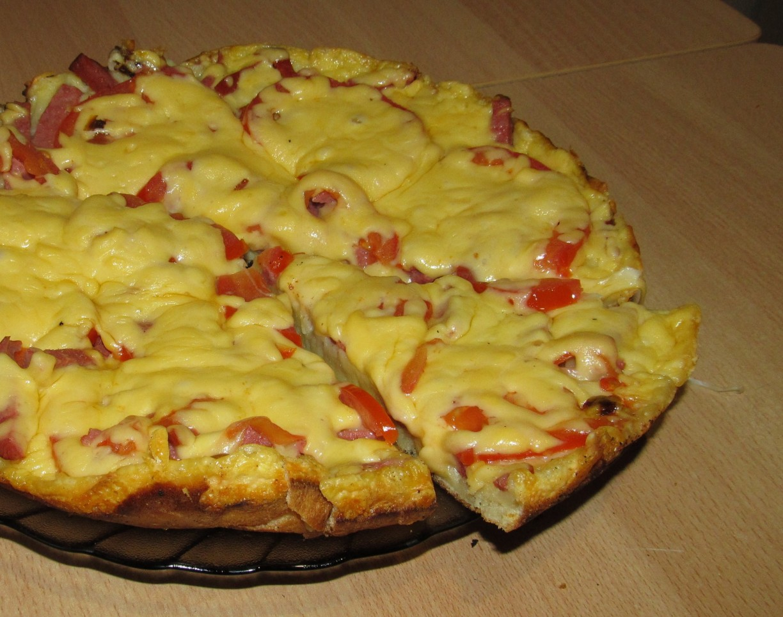 Пицца на сковороде в домашних условиях пошагово простые