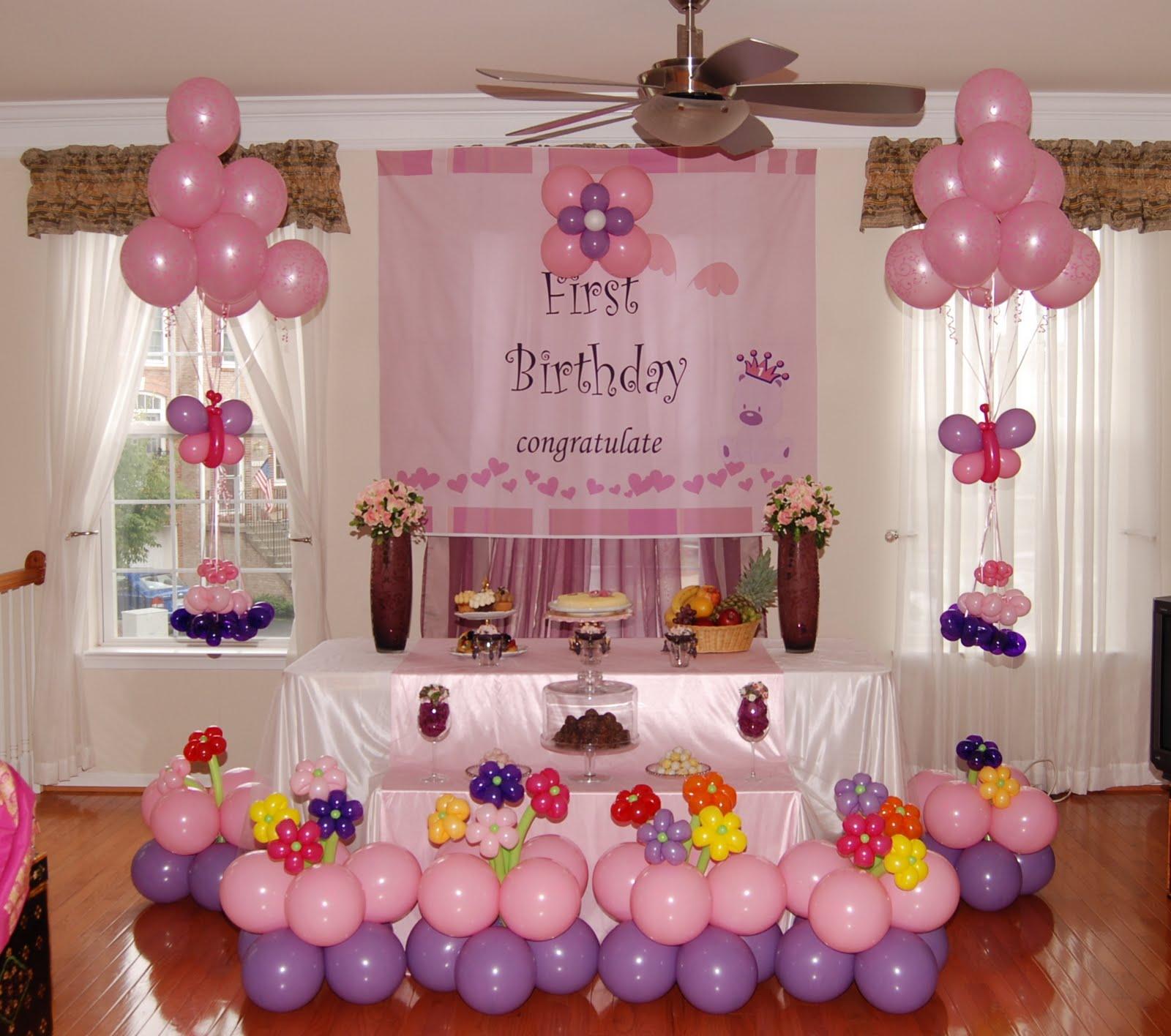 Украсить комнату на день рождения дочери своими руками
