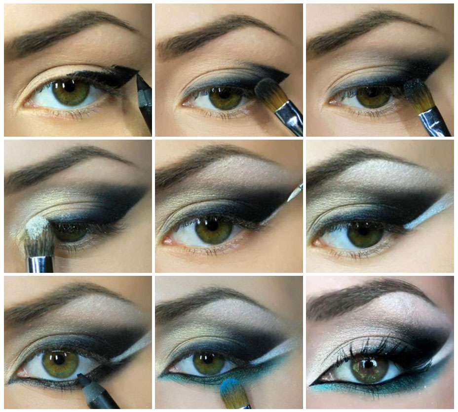 Как сделать вечерний макияж для зеленых глаз пошаговое