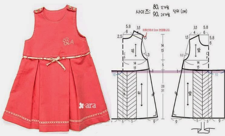 Как сшить платье для девочки 3 года своими руками