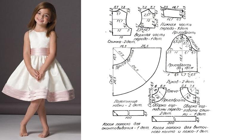 Выкройки платьев на девочку 8 лет