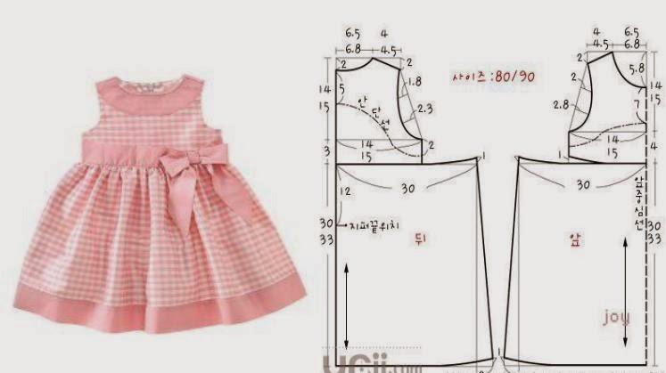 Выкройки платьев для девочек 2-3 года