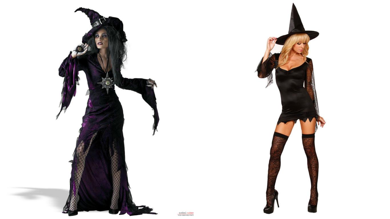 Костюм для ведьмы на хэллоуин своими руками фото