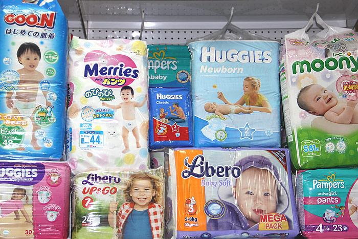 Детские подгузники для новорожденных