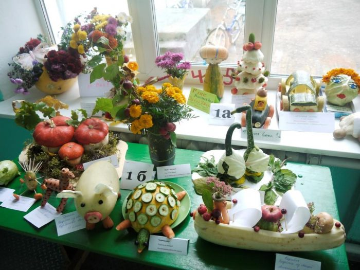 Поделки из овощей и фруктов на выставку на тему осень 25