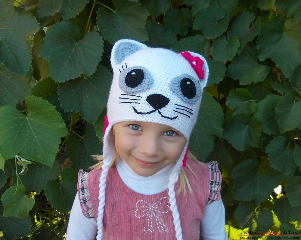 64b71ab34308 Вязание шапочки для девочек спицами и крючком с описанием: вязаные ...