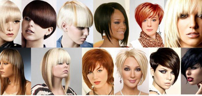 Стрижки на средние волосы с косой чёлкой 2017 женские фото