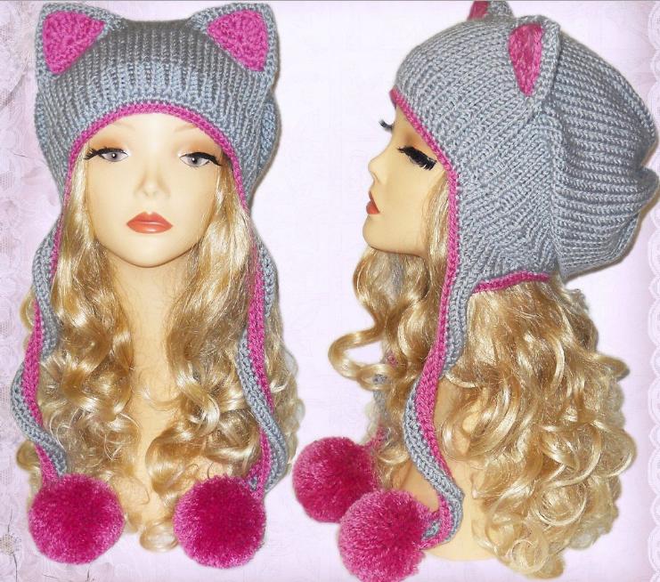 Вязание шапок девочек фото