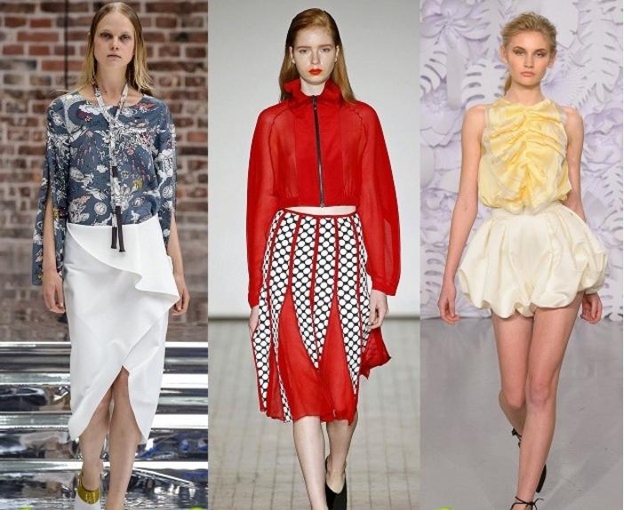 Модные юбки на подиумах