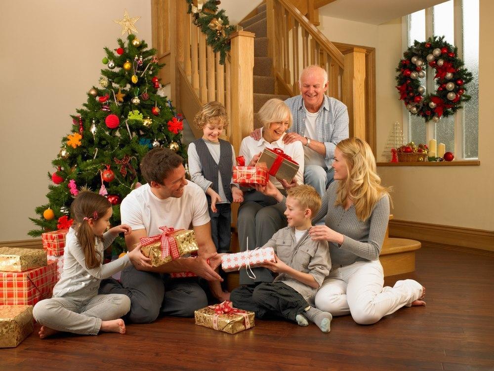 Семейный праздник в новый год