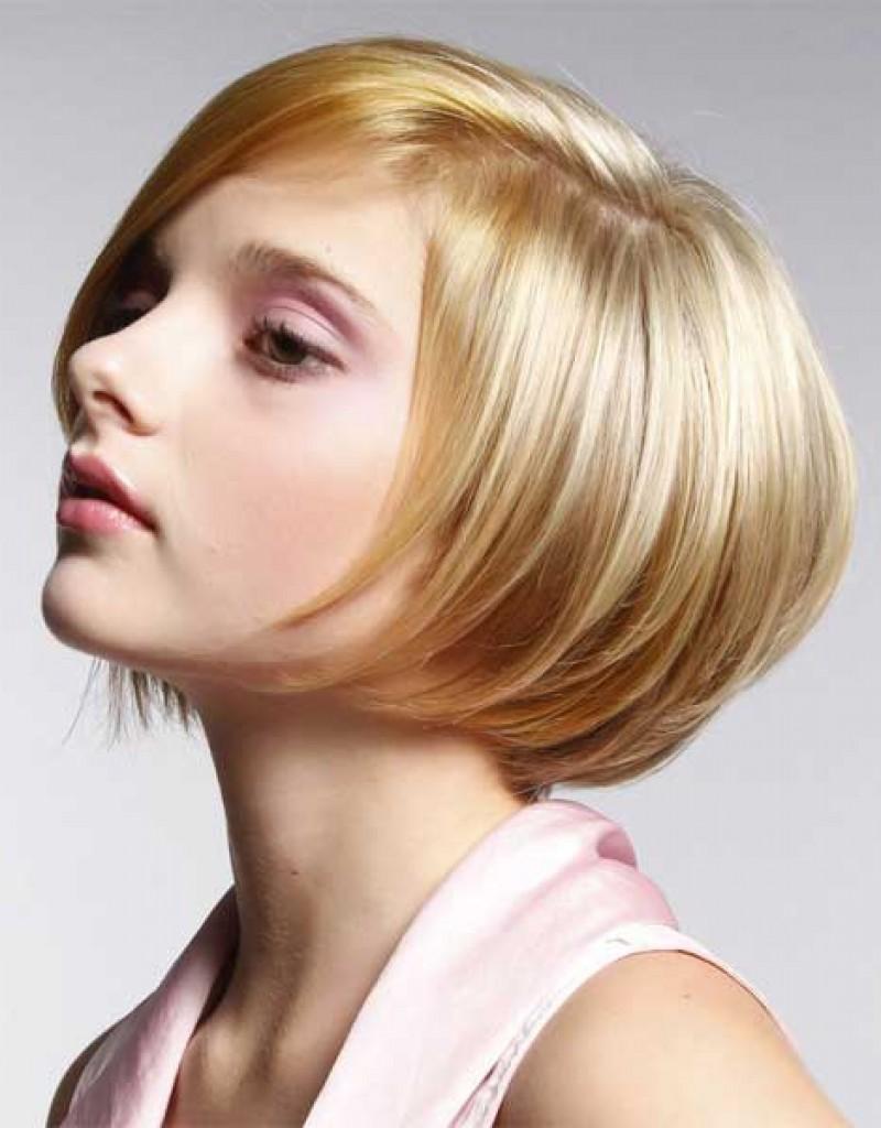 Фото модные короткие стрижки на тонкий волос