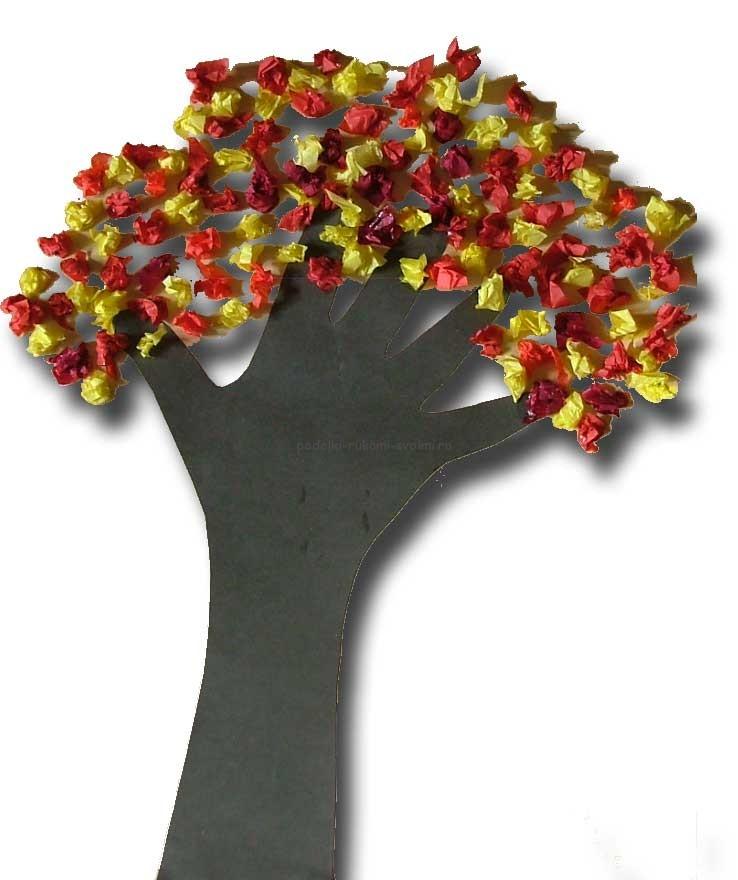 Осеннее дерево своими рукам