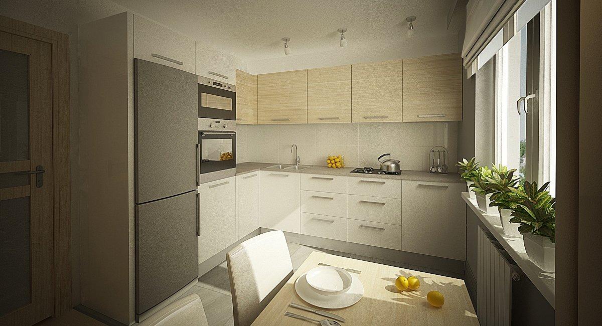 Фото угловой кухни 9 кв.м интерьер