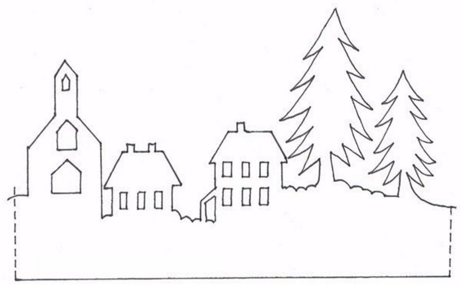 Домики из бумаги шаблоны для вырезания на новый год
