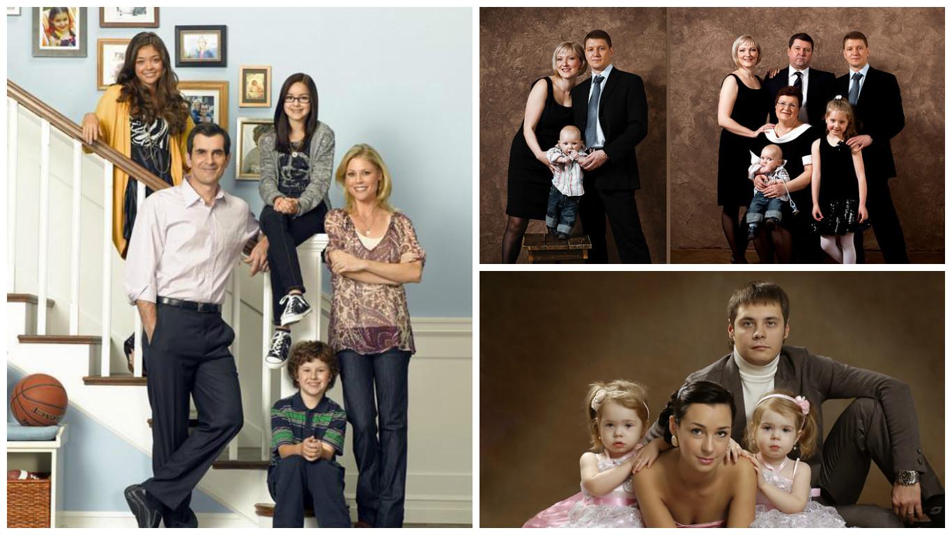 Постановочные идеи для семейных и групповых портретных