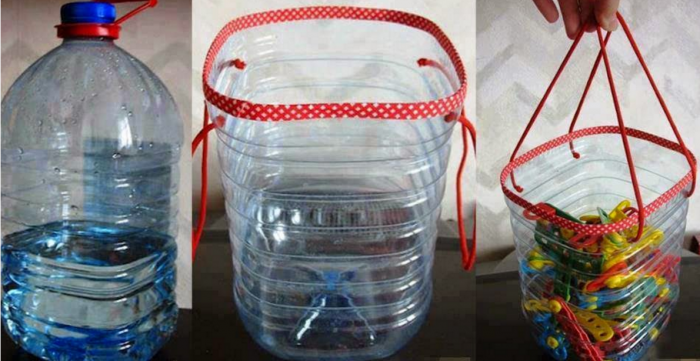 Емкости из пластиковых бутылок для хранения