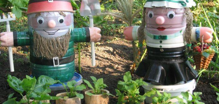 Поделки на участок детского сада своими руками из пластиковых бутылок фото