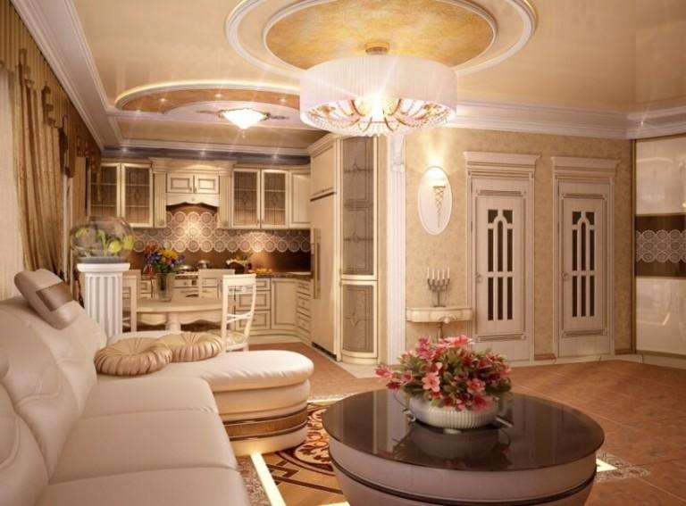 Дизайн квартиры студии фото в классическом стиле