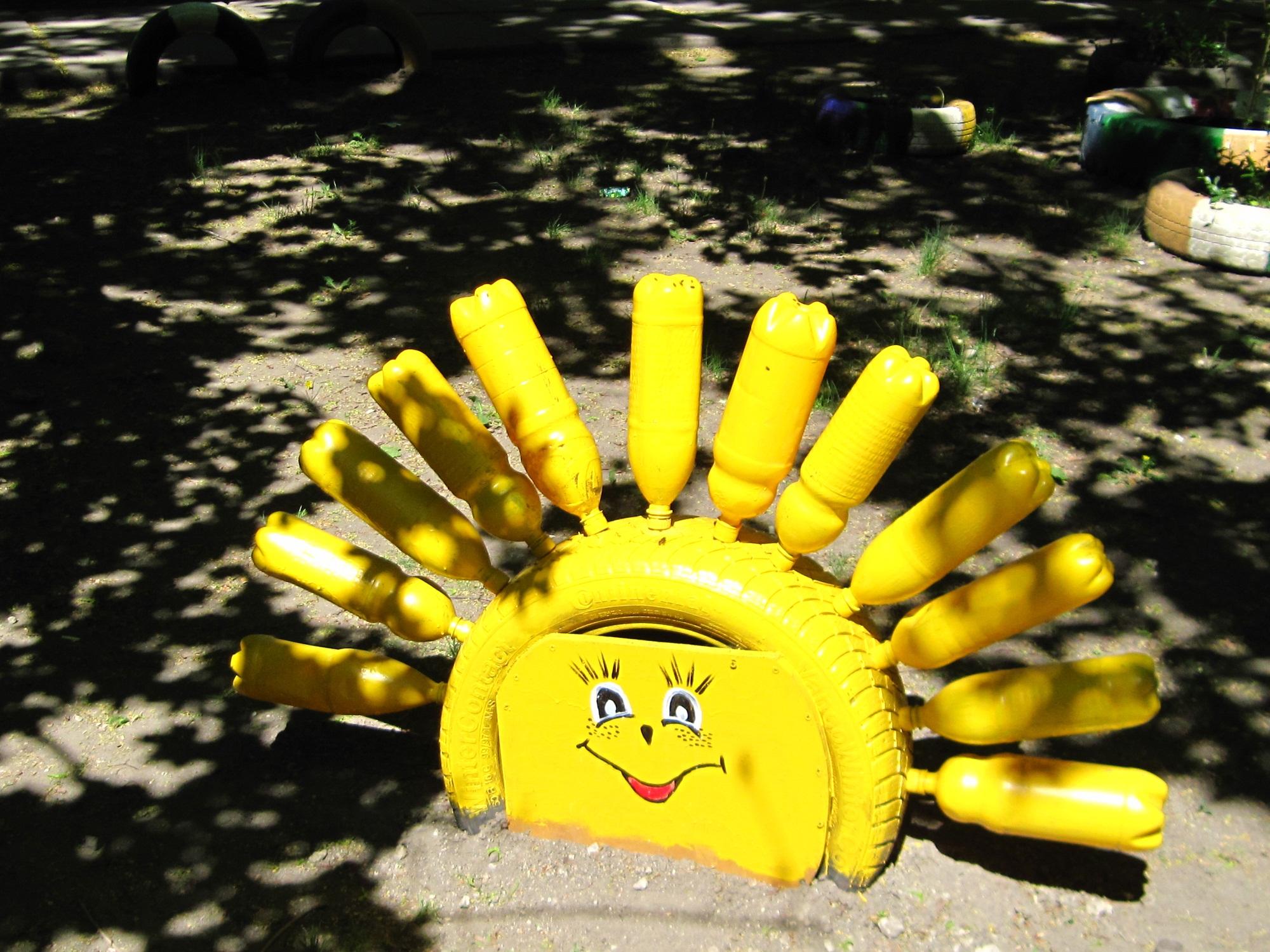 Солнышко для дачи своими руками фото