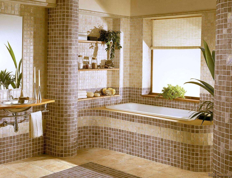 Современный дизайн мозаика в ванной фото