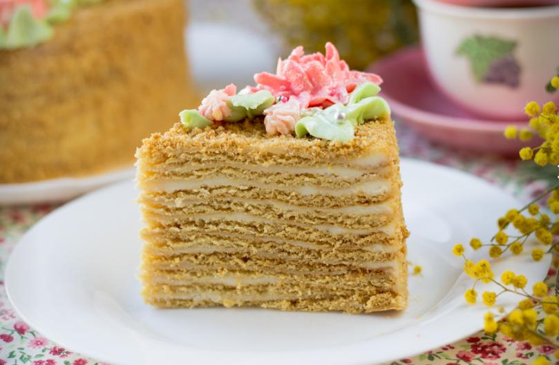 Домашний медовый торт рецепт с пошаговым фото