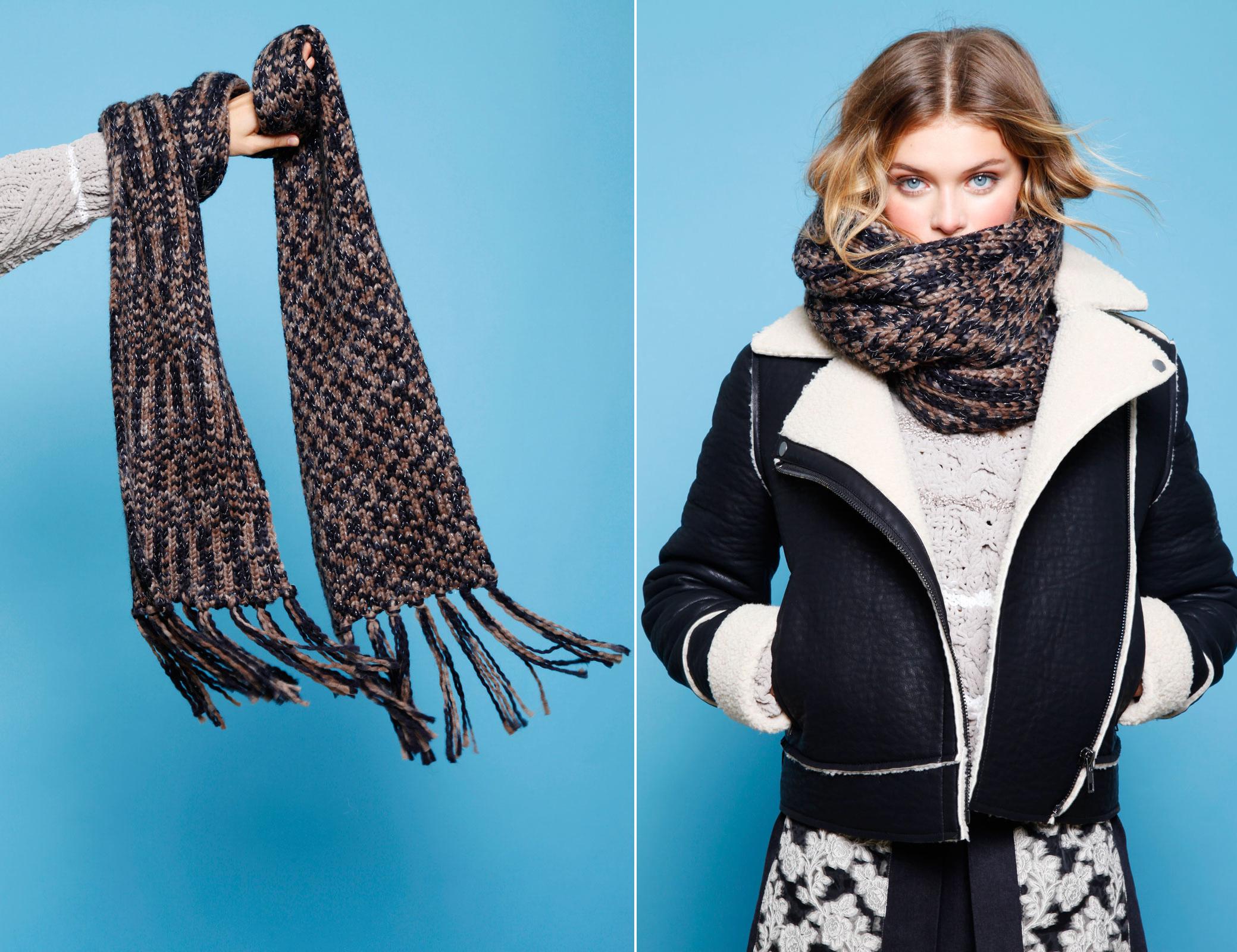 Модные шарфы 2018 года