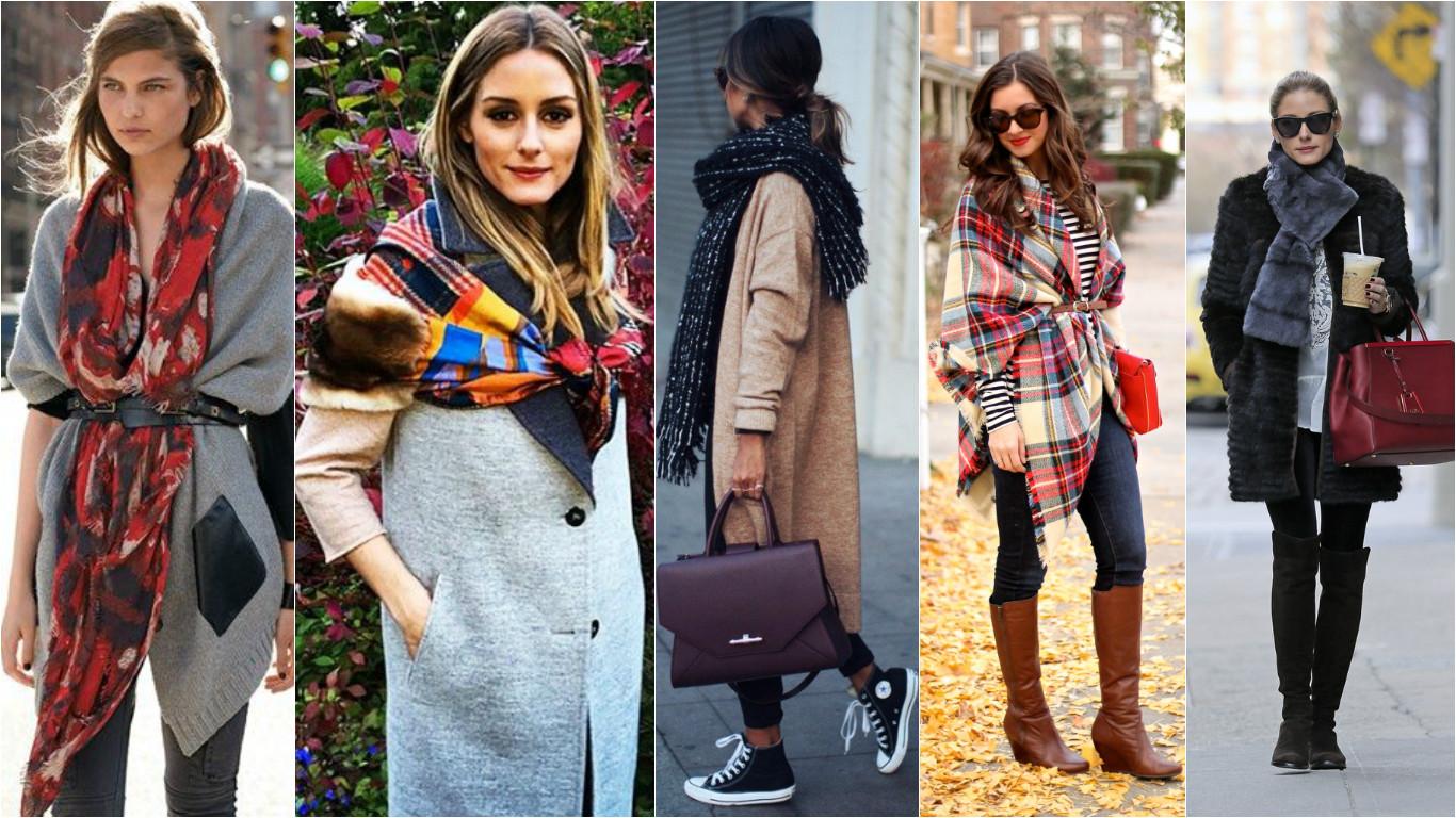 Как завязывать шарф, модные тенденции - 2018