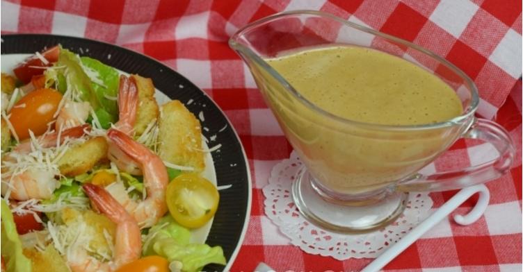 Как сделать соус дома для салата цезарь