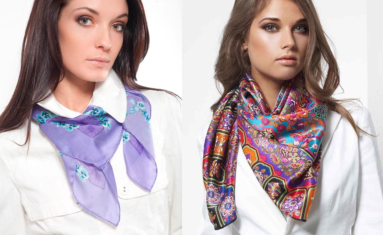 Как завязать шарф на шее под платье