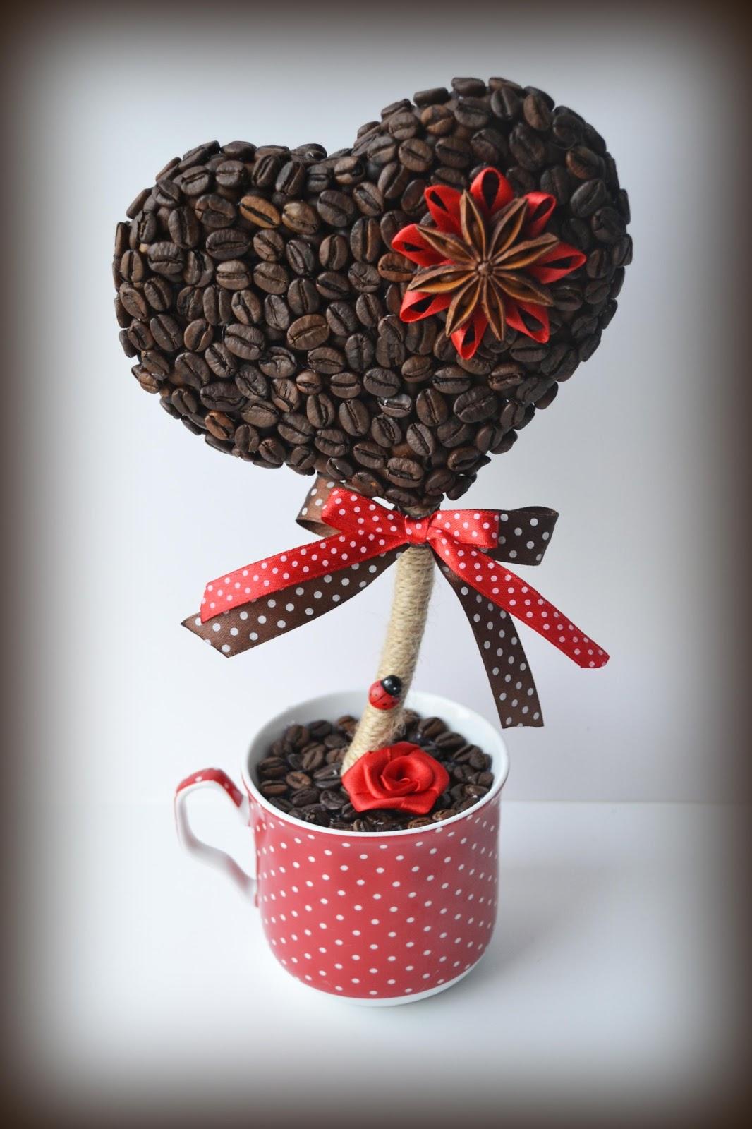 Как сделать кофейные топиарии своими руками