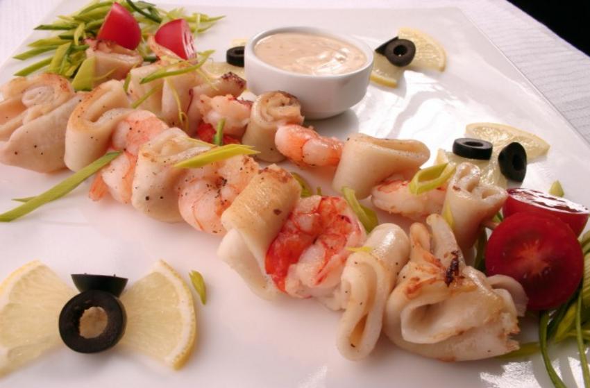 Блюда с кальмаров рецепты