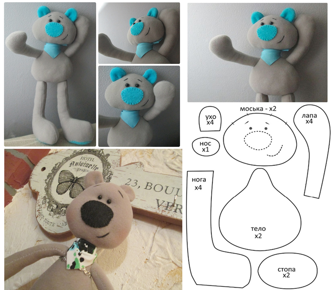 Схема шитья игрушек из ткани своими руками фото 76