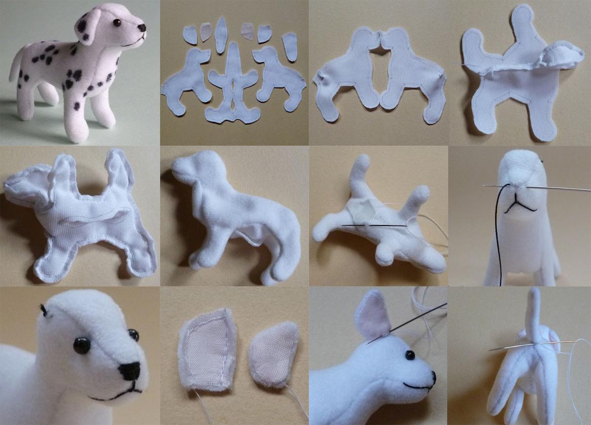 Как сделать собаку из ткани своими руками