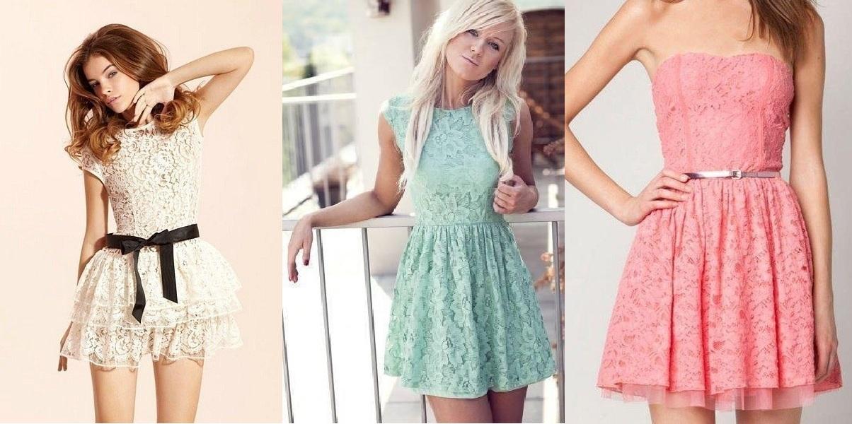 Короткие белые гипюровые платья