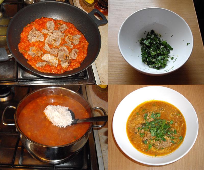 Рецепт приготовления суп харчо пошагово с фото