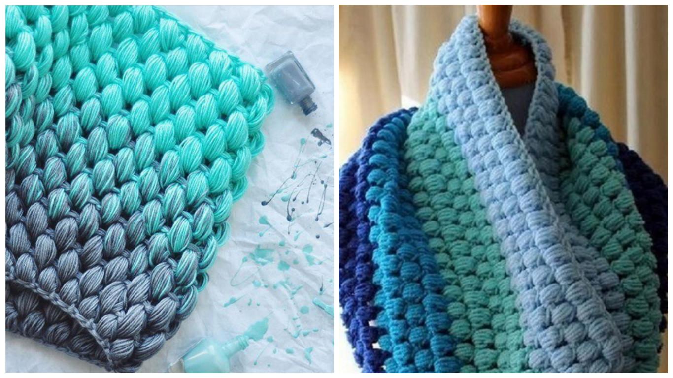 Как связать снуд хомут круговой шарф схема фото 547