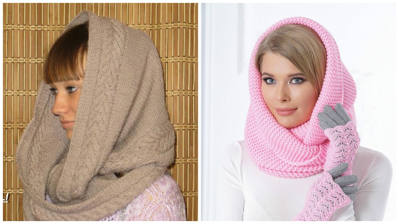 Вязание снудов шарфов хомутов 190