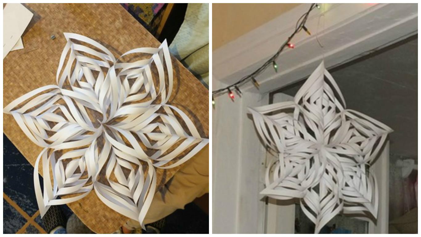 Снежинки из бумаги фото и как делать