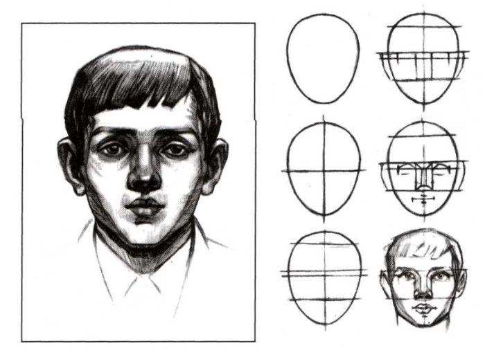 Как пошаговая инструкция портрет человека рисовать